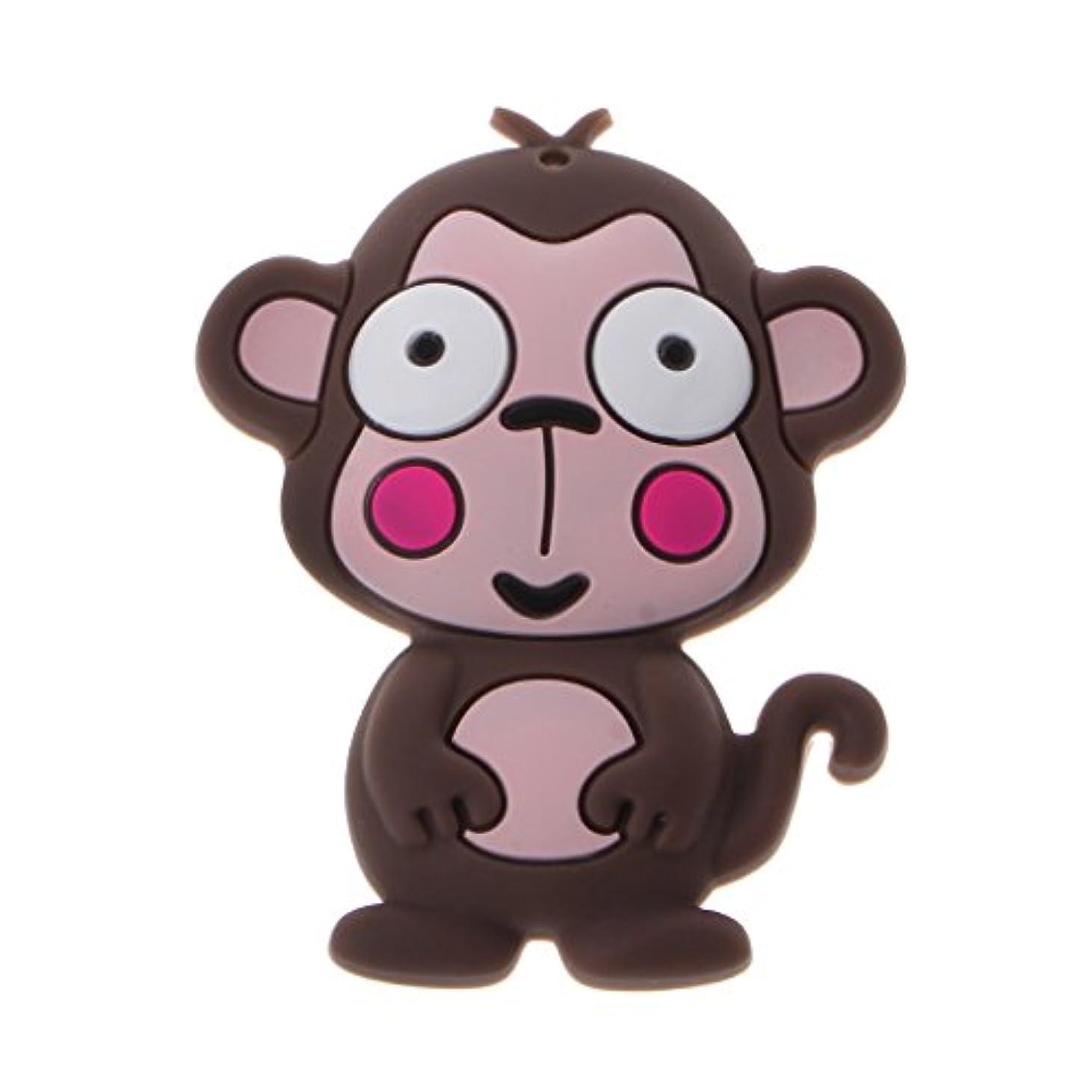 Landdumシリコーンおしゃぶり漫画猿頭蓋骨おしゃぶり赤ちゃん看護玩具かむ玩具歯が生えるガラガラおもちゃ