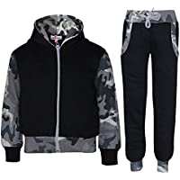 Kids Boys Girls Tracksuit Fleece Hooded Hoodie Bottom Jogging Suit Jogger 2-13 Y