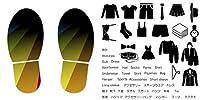 靴置きステッカー くつおきマーク くつおきステッカー 大人用 60×30cm 靴 マーク くつ 収納 シール ステッカー  整理整頓 ウォールステッカー ラベルシール 収納 子供 便利グッズ 片付け shoe2wssxx-002077-ws