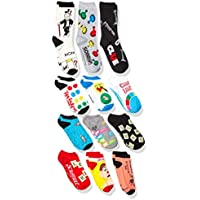 Hasbro Unisex-Adult's Classic Games 12 Days Advent Box, assorted bright, Fits Sock Size 9-11; Fits Shoe Size 4-10.5 (Girls/Womens) & Fits Shoe Size 4-9 (Boys)
