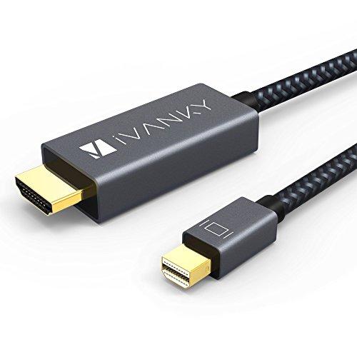 『Mini DisplayPort→HDMI 変換 ケーブル iVANKY【フルHD1080P対応/2M/保証付き】 Surface Pro/Dock, Mac, MacBook Air/Pro, iMac, ディスプレイ, AV アダプタ対応 Thunderbolt 2 to HDMI 耐久変換ケーブル Mini DP ミニディスプレイポート サンダーボルト』のトップ画像