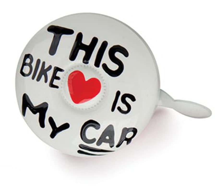 描写こするとげのあるKikkerland Dring Dring Bikeベル、この自転車は私の車