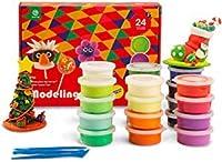 ROBUD DIYモデリング粘土キット 24色 クリエイティブ 空気乾燥 マジック粘土 子供用 超軽量 非毒性 くっつかない アートやクラフトプロジェクトに最適 子供へのギフトに最適