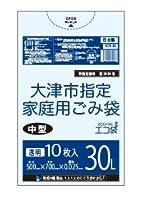大津市指定袋 30L0.025㎜厚 10枚 透明