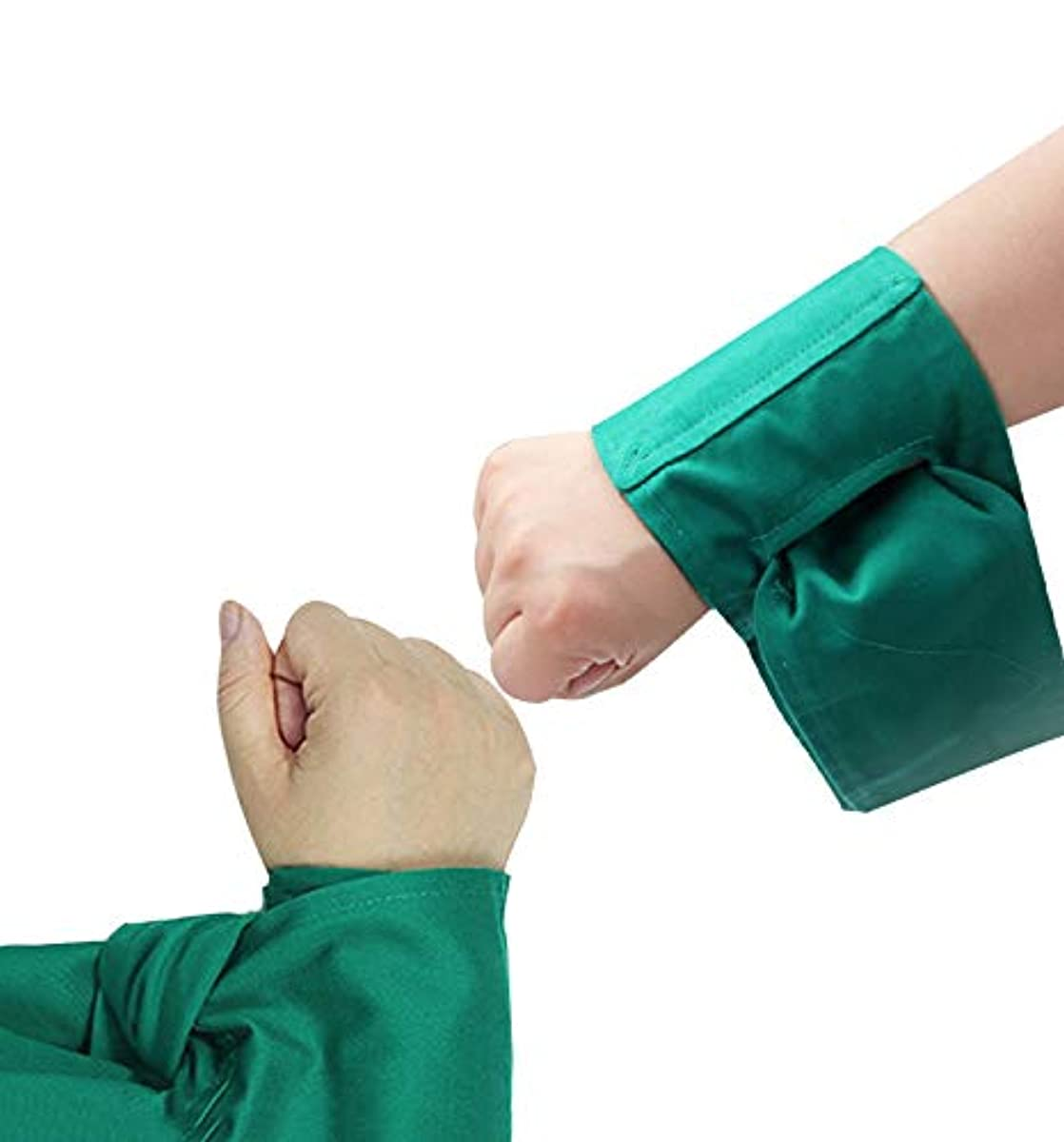 リボンフィードオン資格情報手足ホルダー - 医学的拘束手足のための患者肢ホルダー - 1対の上肢または下肢拘束バンド,Green