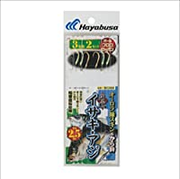 ハヤブサ(Hayabusa) 海戦イサキ・アジ オーロラ緑スキン&から鈎2.5m 3本鈎 SE368 3/3-2.5-2.5