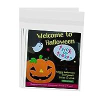 PETSOLA ハローウェン バッグ カボチャパターン お菓子 クッキー ギフトバッグ 包装バッグ 全4種 - ハロウィンへようこそ