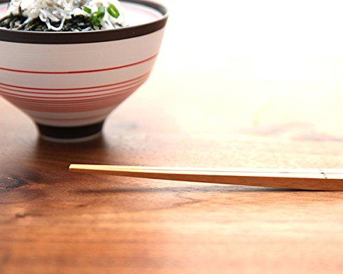 箸置きのいらない先端が浮いた便利なお箸 +d(プラスディー)UKI HASHI bamboo M(1膳)