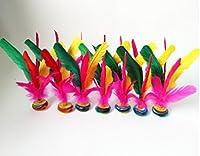 dmeilingスポーツフィットネス機器カラーGoose Feather Shuttlecock、shuttlecockcock、Shuttlecock For The Game , Feather Shuttlecock , Shuttlecock玩具、ペダルPracticeアウトドアゲーム3pcs