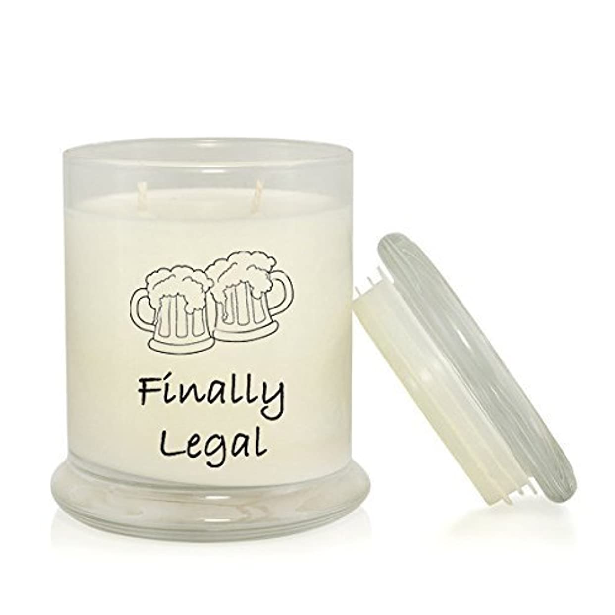ごみベース起きているFinally Legal 8.5 oz. Soy Candle - 21st Birthday Gift - Caribbean Teakwood Scented [並行輸入品]