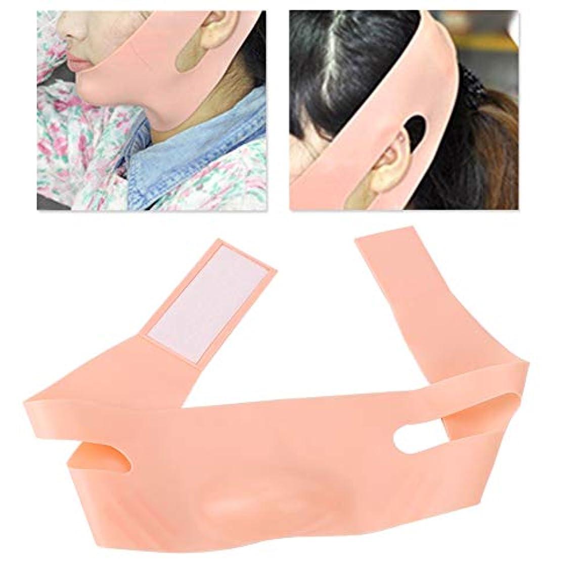 鮮やかなベッド花Vラインフェイスリフティング包帯アンチリンクルマスク