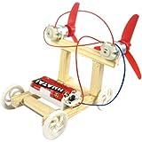 HOMYL Kid Physics Learning Science Educational Kit Assemble Model Toy DIY Family Activity Wind Power Car