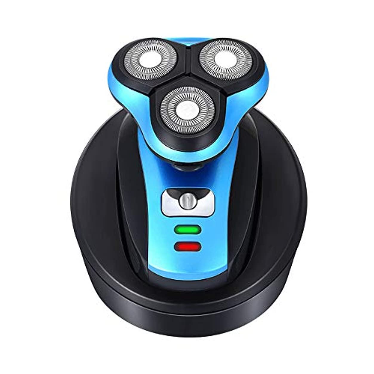 未接続システム可動式3D回転およびフローティングヘッド、ウェット&ドライテクノロジーを備えた男性用電気シェーバーは、フェイシャルケア用の防水ヒゲトリマー
