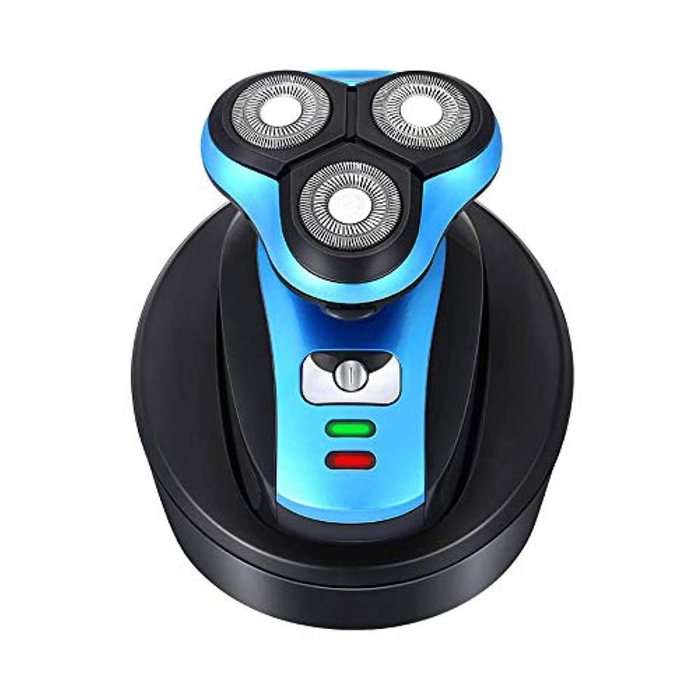 季節促進する3D回転およびフローティングヘッド、ウェット&ドライテクノロジーを備えた男性用電気シェーバーは、フェイシャルケア用の防水ヒゲトリマー
