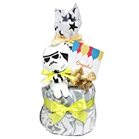 スターウォーズ ぬいぐるみ おむつケーキ 出産祝い 男の子 女の子 パンパース テープS15枚 ストームトルーパー