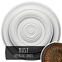 Ekena Millwork cm18nirus Niobe天井Medallion Fits Canopies up to 8 5 / 8インチ、Rust