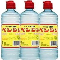 【3個】オクダ化学工業 カイロ用ベンジン 500mlx3個 (4971159011567)