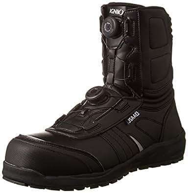 [イグニオ] セーフティシューズ(安全靴) JSAA A種認定 耐滑ソール ブーツタイプ TGFダイヤル式 IGS1067TGF ブラック 24.5 cm 3.5E