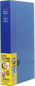ナカバヤシ ポケットアルバム フォトホルダー 360枚 黒台紙 ブルー PH1036B