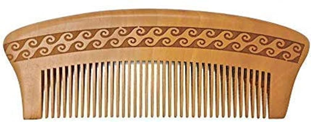 重々しいマイナスクルーBRIGHTFROM Wooden Hair Comb, Anti-Static, Detangling Wide Tooth Comb, Great for Hair, Curly Hair, Normal Hair,...