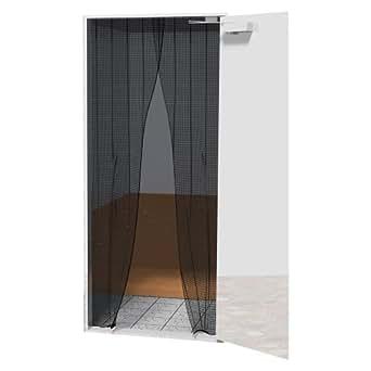 【玄関に簡単取付】 ドウシシャ ワンタッチ網戸 幅50×長さ200cm 2枚入り DTZ50
