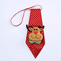 Christmas Tie Sequins Party Accessories Novelty Tie Party Dance for Kids Gifts