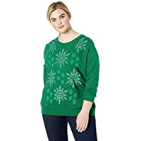 Just My Size Women's Size Plus Ugly Christmas Sweater Pullover Sweatshirt