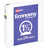 "Economy Vinyl Round Ring View Binder, 1-1/2"" Capacity, White (並行輸入品)"