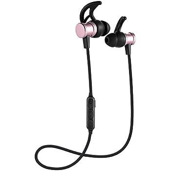 JANRI Bluetooth イヤホン ブルートゥース ワイヤレス ヘッドフォン 高音質 マイク付き マグネット付 スポーツ 両耳 防水 軽量 iPhone、Android各種対応