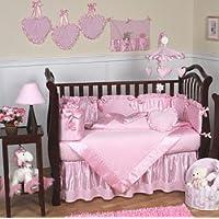 Sweet Jojo Designs 9-Piece Pink Chenille and Satin Baby Girl Bedding Crib Set [並行輸入品]