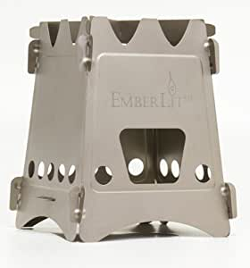New Emberlit stove-UL titanium(エンバーリット ストーブ ウルトラライト チタン製)クロスバー及びストーブ収納袋付属