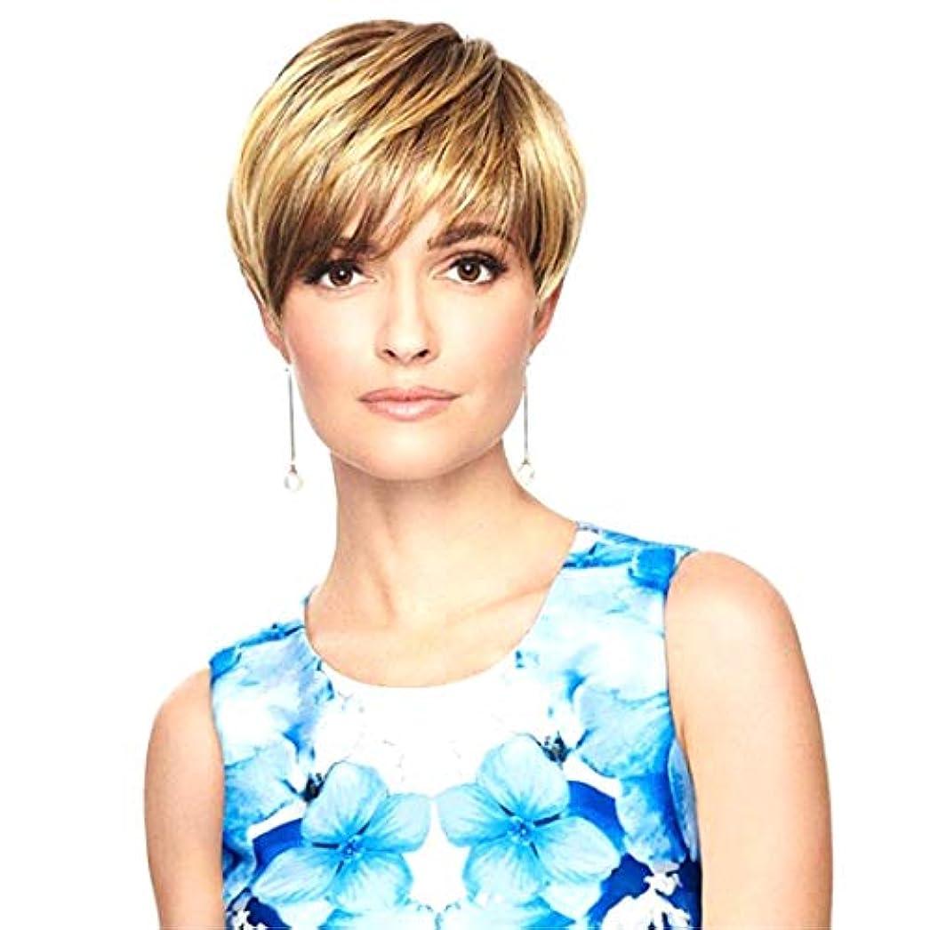 ルール解体する思いやりのあるKerwinner 女性のためのかつらショートセクション斜め前髪ショートストレートヘア