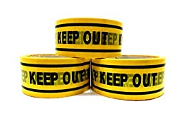 [Jammin] KEEP OUT 立入禁止 テープ 4.4cm×50m 3巻セット 看板 バリケード
