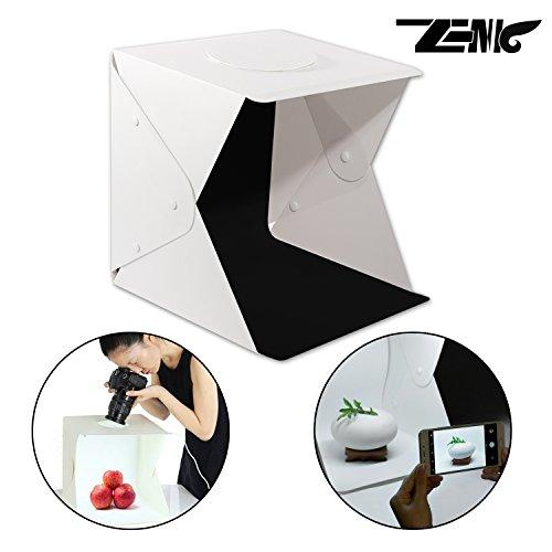 Zenic二代目 人気撮影キット 44*43*45cm小物撮影ボックス 折りたたみ式 簡易スタジオ 35球LED ライトボックス USB給電 コンパクト 背景布4枚付き 組立簡単 収納便利