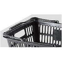 買い物カゴ(28リットル) ブラック 10個