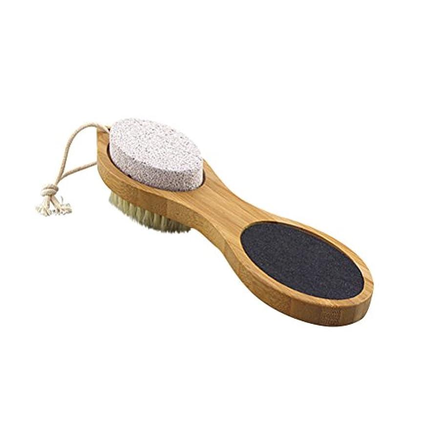 ヒューズ誰か汚染ULTNICE 足ブラシ 角質除去 毛ブラシ?砂ブラシ?軽石ブラシ?鋼ブラシ ボディブラシ フットマッサージ