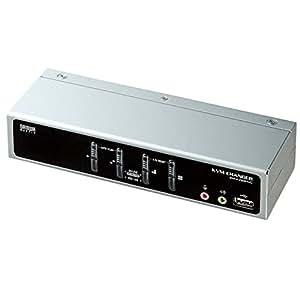 サンワサプライ SW-KVM4HVC USB・PS/2コンソール両対応パソコン自動切替器(4:1)