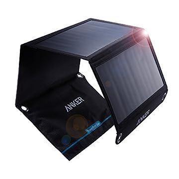 Anker PowerPort Solar (21W 2ポート USB ソーラーチャージャー) iPhone XR / XS / XS Max / iPad Air 2 / mini 3 / Xperia / Galaxy S6 / S6 Edge / Android各種他対応 【PowerIQ搭載】