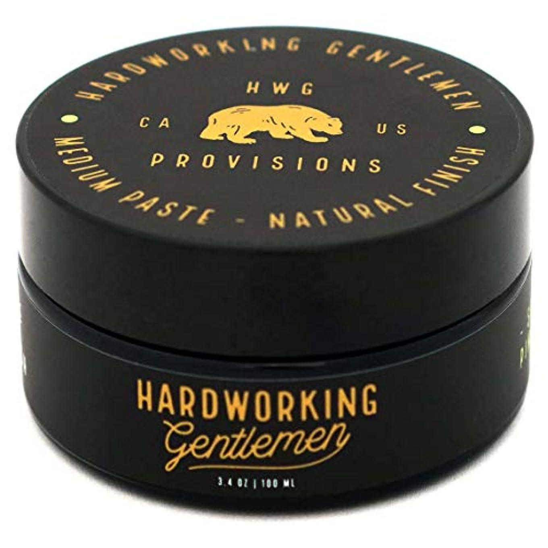 ワイプまどろみのあるキャビンHardworking Gentlemen (ハードワーキング ジェントルメン) Medium Paste ヘアワックス 100ml 天然成分 オーガニック
