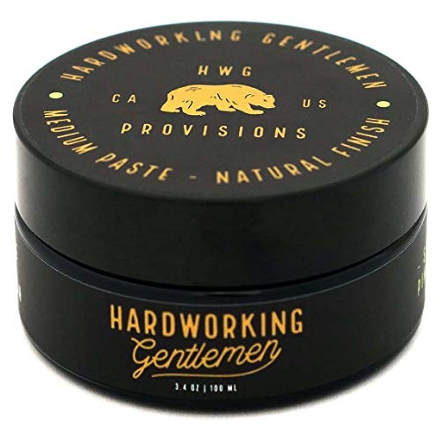 バングラデシュ懲らしめコテージHardworking Gentlemen (ハードワーキング ジェントルメン) Medium Paste ヘアワックス 100ml 天然成分 オーガニック