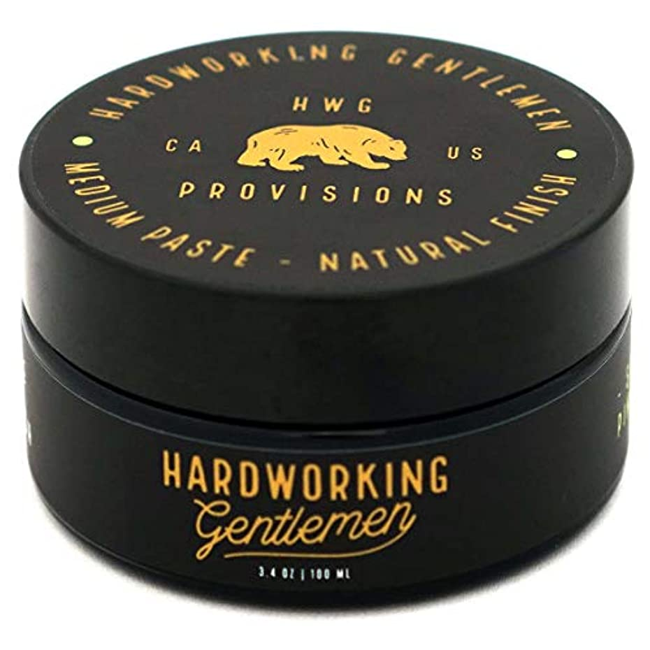 沈黙秘書混乱したHardworking Gentlemen (ハードワーキング ジェントルメン) Medium Paste ヘアワックス 100ml 天然成分 オーガニック