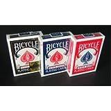 【トランプ】BICYCLE(バイスクル) ライダーバック ポーカーサイズ 【ブラック?レッド?ブルー】【3色セット】