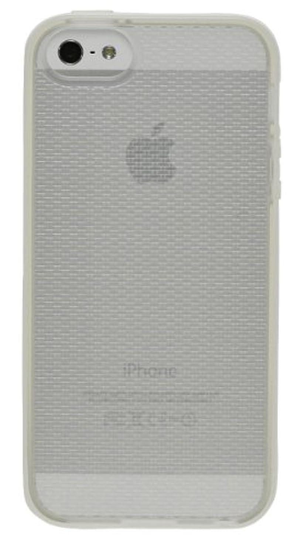 ジャンピングジャック暴動ビームbaw&g iPhone5 ソフトケース TPU バンパーケース (ホワイト) 液晶保護フィルム付き IP5-DS-TP02-WHI