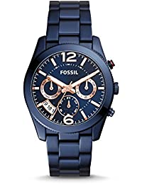 FOSSIL PERFECT BOYFRIEND パーフェクトボーイフレンド ネイビー クロノグラフ アナログ レディース 腕時計 フォッシル ES4093 [並行輸入品]