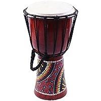 Homyl 6インチ チェリーウッド ジャンベ ボンゴ アフリカン楽器 ハンドドラム パーカッション
