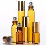 ShopXJ 遮光瓶 アトマイザー ロールオン ブラウン (10ml)