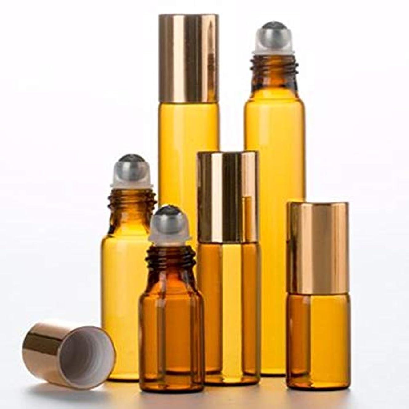 ダブル苛性供給ShopXJ 遮光瓶 アトマイザー ロールオン ブラウン (5ml)