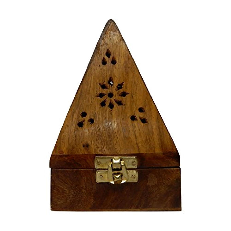 周り線形承認Gift your Valentine's on Special Day Wooden Classic Pyramid Style Wooden Burnor (Dhoop Holder) With Square and...