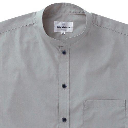 【スタンドカラーシャツ】(半袖/兼用)《031-EP-6840》 (L, C-9 グレー)