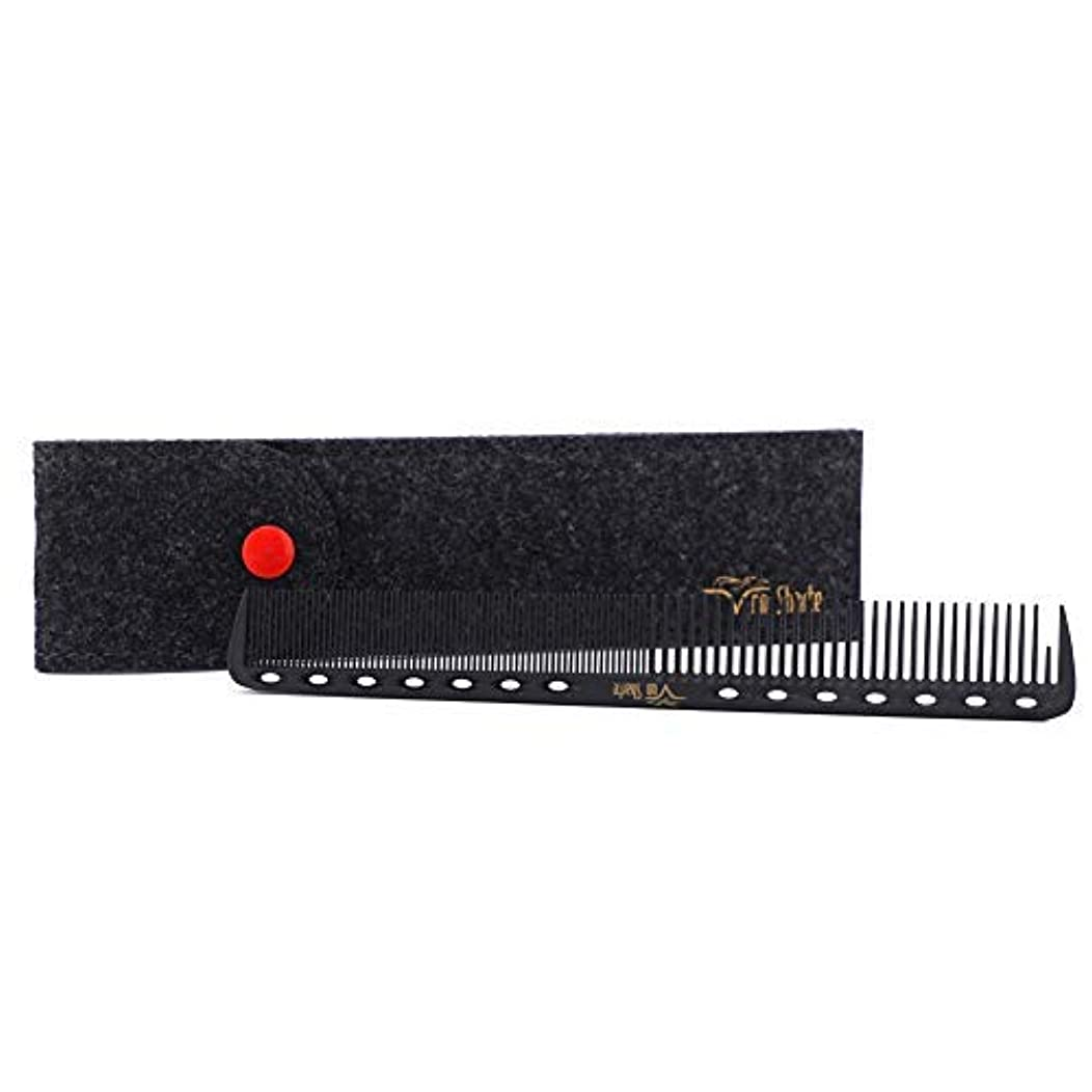 感嘆ベル穏やかなBarber Comb,Hair Cutting Combs Carbon Fiber Salon Hairdressing Comb 100% Anti Static 230℃ Heat Resistant with...